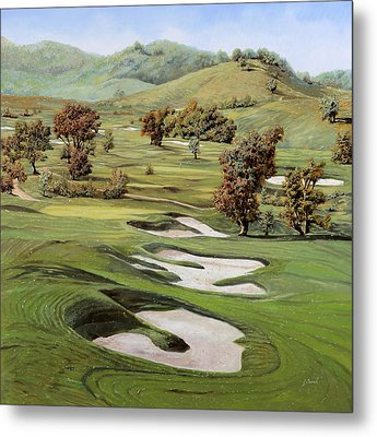 Cordevalle Golf Course Metal Print by Guido Borelli