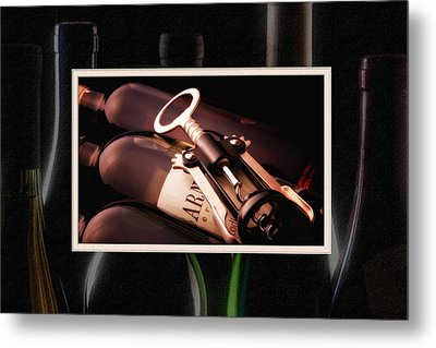 Corkscrew Matted Metal Print