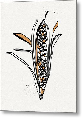 corn- contemporary art by Linda Woods Metal Print