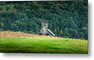 Metal Print featuring the photograph Corn Field Silo by Marvin Spates
