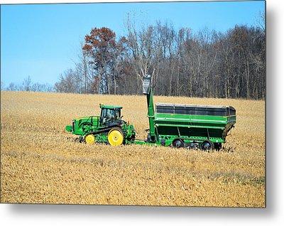 Corn Harvest Metal Print by Bonfire Photography