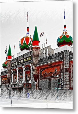 Corn Palace South Dakota Metal Print by Bob Pardue
