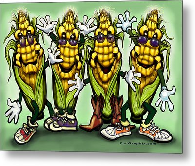 Corn Party Metal Print by Kevin Middleton