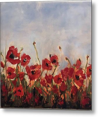 Corn Poppies In Remembrance Metal Print