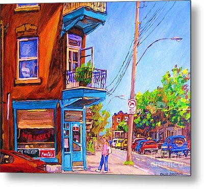 Metal Print featuring the painting Corner Deli Lunch Counter by Carole Spandau