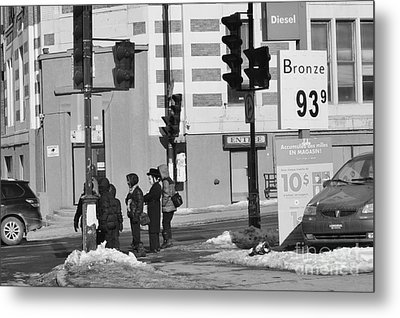 Corner Of The Street Metal Print by Reb Frost