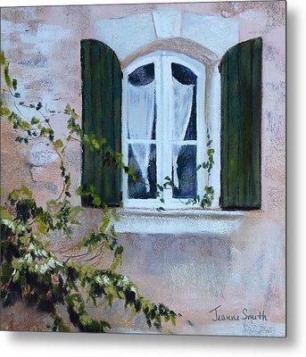 Corner Window Metal Print by Jeanne Rosier Smith
