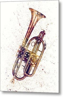 Cornet Abstract Watercolor Metal Print
