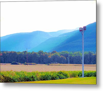 Cornfield On Bright Autumn Day 3 Metal Print by Lanjee Chee