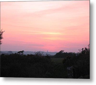 Cornish Sunset Metal Print by Tony Payne