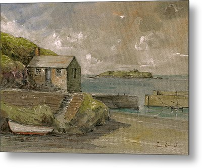 Cornwall Mullion Cove Harbour Lizard -english Channel - Metal Print by Juan  Bosco