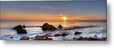 Corona Del Mar Sunset Panorama Metal Print