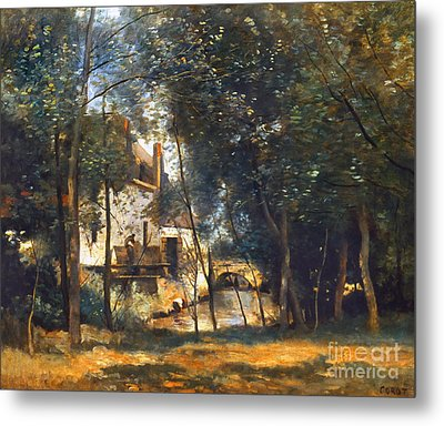 Corot - The Mill Metal Print by Granger