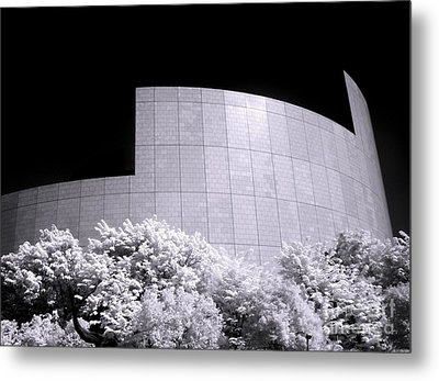 Corporate Architecture And Trees Metal Print by Yali Shi