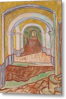 Corridor In The Asylum, September 1889 Metal Print by Vincent van Gogh