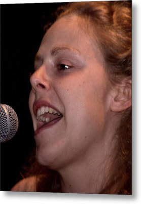 Metal Print featuring the photograph Corrina Rachel Sings by Karen Musick