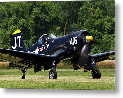 Metal Print featuring the photograph Corsair Close-up by Peter Chilelli