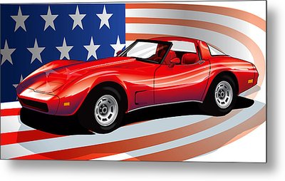 Corvette Metal Print by Brian Gibbs