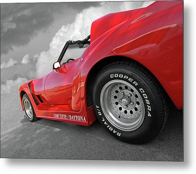 Metal Print featuring the photograph Corvette Daytona by Gill Billington