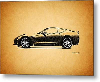 Corvette Metal Print