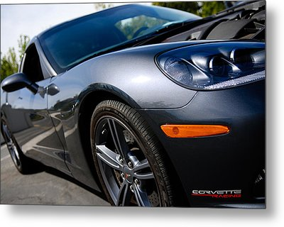 Metal Print featuring the photograph Corvette Racing by Shane Kelly