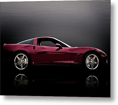 Corvette Reflections Metal Print by Douglas Pittman
