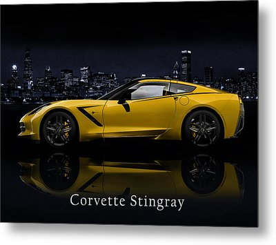 Corvette Stingray Metal Print by Mark Rogan