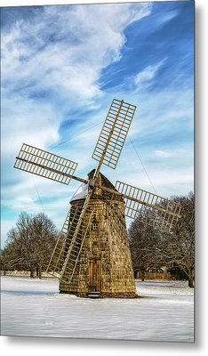 Metal Print featuring the photograph Corwith Windmill Long Island Ny Cii by Susan Candelario