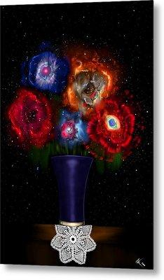 Cosmic Bouquet Metal Print