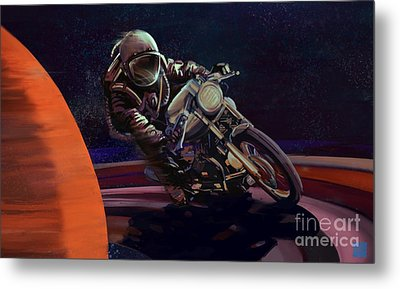 Cosmic Cafe Racer Metal Print by Sassan Filsoof