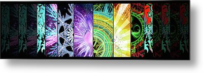 Metal Print featuring the mixed media Cosmic Collage Mosaic by Shawn Dall