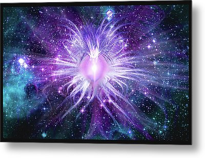 Cosmic Heart Of The Universe Mosaic Metal Print