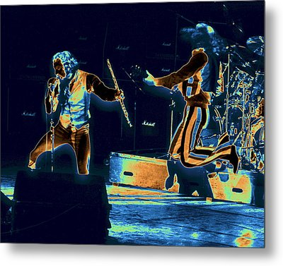 Metal Print featuring the photograph Cosmic Ian And Leaping Martin by Ben Upham