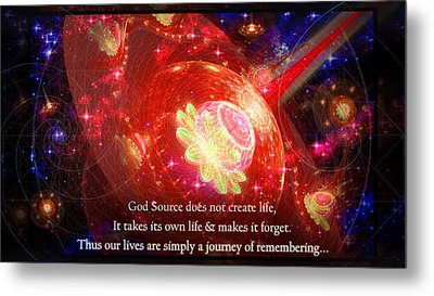 Metal Print featuring the mixed media Cosmic Inspiration God Source 2 by Shawn Dall