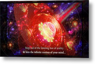 Metal Print featuring the mixed media Cosmic Inspiration God Source by Shawn Dall