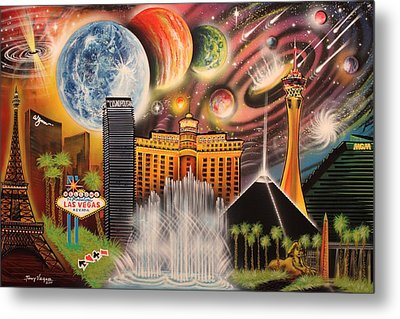 Cosmic Las Vegas Metal Print by Tony Vegas
