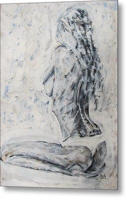 Metal Print featuring the painting Cosmic Love by Jarko Aka Lui Grande