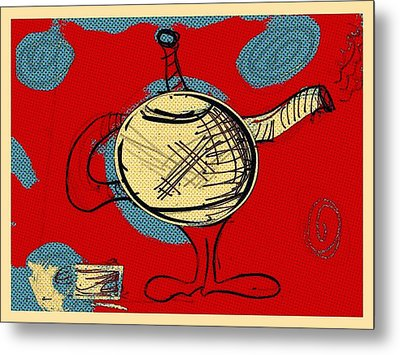 Cosmic Tea Time Metal Print