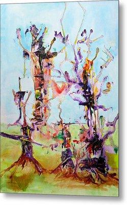Cosmic Tree Family Metal Print