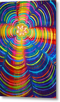 Cross Radiating Seven-fold Promise Of Hope Metal Print by Polly Castor