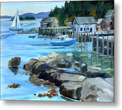 Costal Maine Metal Print by Michael McDougall