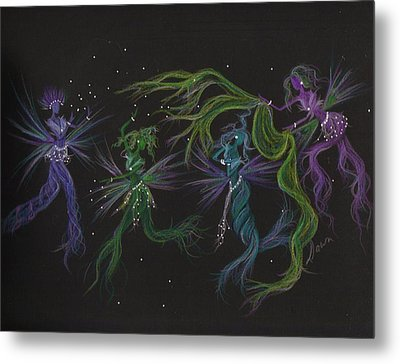 Metal Print featuring the drawing Costume Malfunction by Dawn Fairies