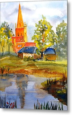 Cotswolds England Church Metal Print by Larry Hamilton