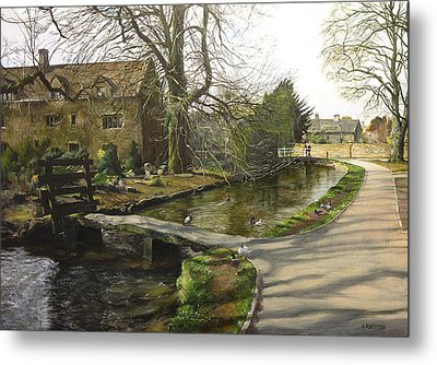 Cotswolds Scene. Metal Print by Harry Robertson
