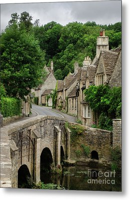 Cotswolds Village Castle Combe Metal Print by IPics Photography