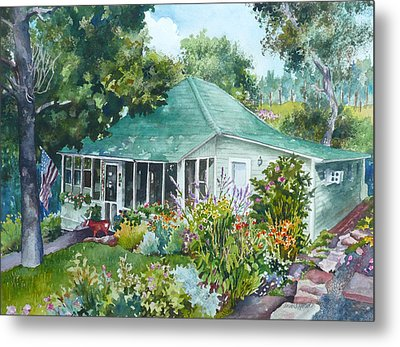 Metal Print featuring the painting Cottage At Chautauqua by Anne Gifford