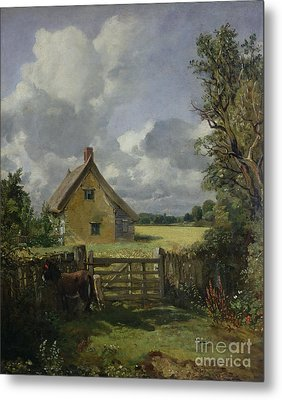 Cottage In A Cornfield Metal Print by John Constable
