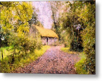 Cottage In The Country Metal Print