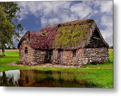 Cottage In The Highlands Metal Print