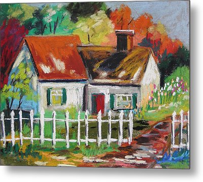 Cottage In The Sun Metal Print by John Williams